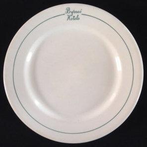 Dinner Plate Byrnes' Hotels
