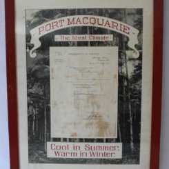 Frame-Letter-Port-Macquarie-The-Ideal-Climate--1939
