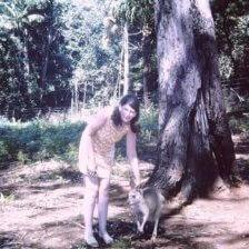 Kangaroo-encounter-at-Kingfisher-Park-1990s
