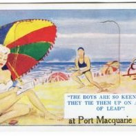 Postcard-The-Boys-are-so-keen-here-at-Port-Macquarie--1950s